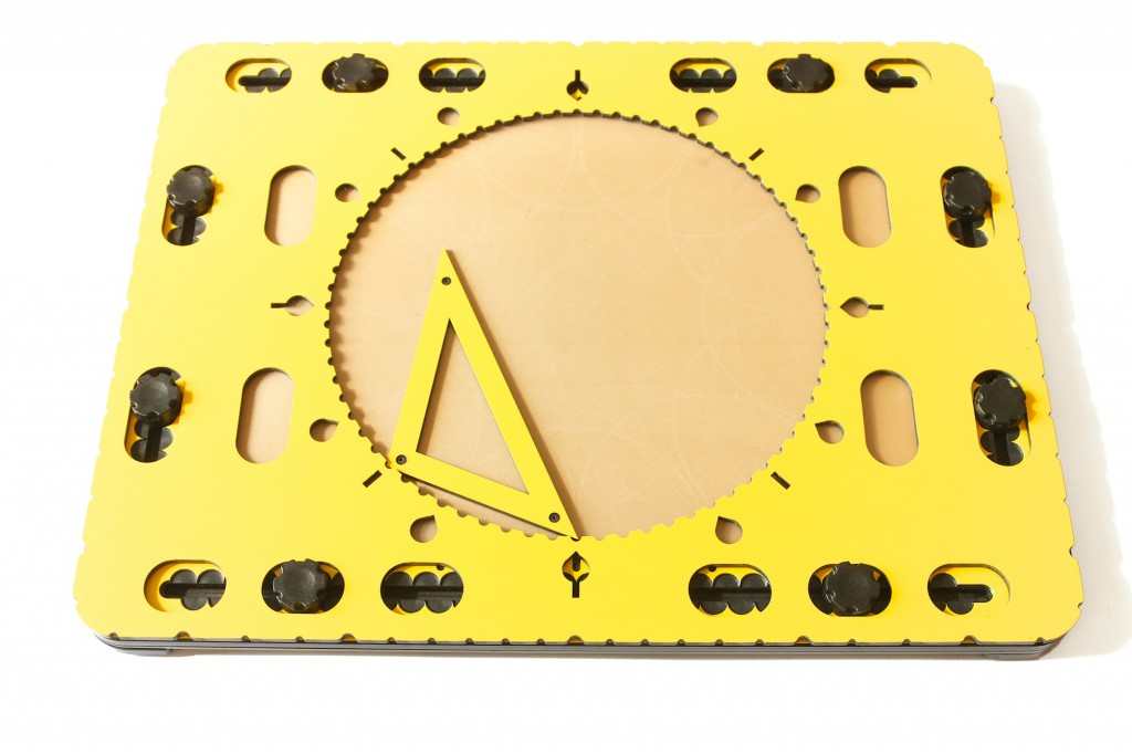 Photo: Combining the smaller triangle tool with the CircleFrame