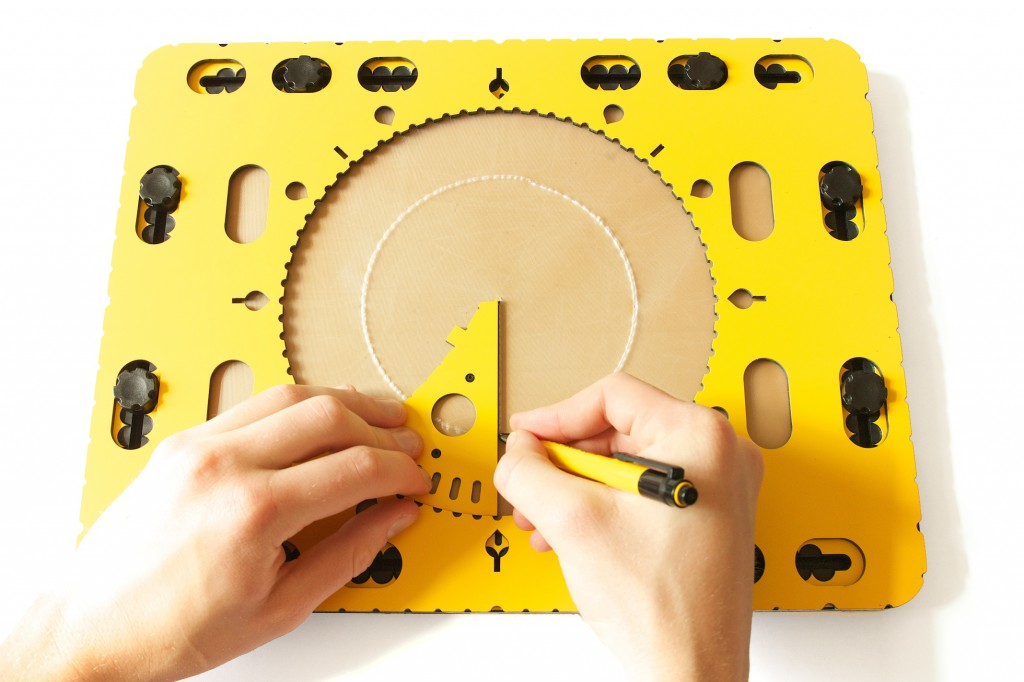 Photo: Creating a pie chart with the wedge shaped tool