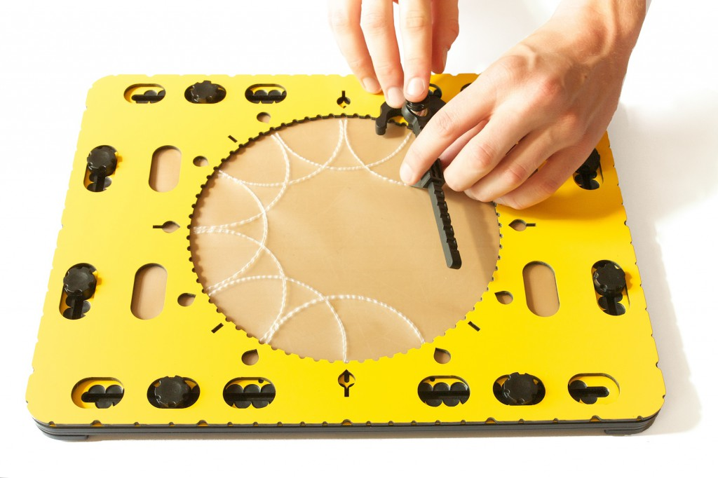 Photo: Using the compasses to create interesting patterns with the CircleFrame