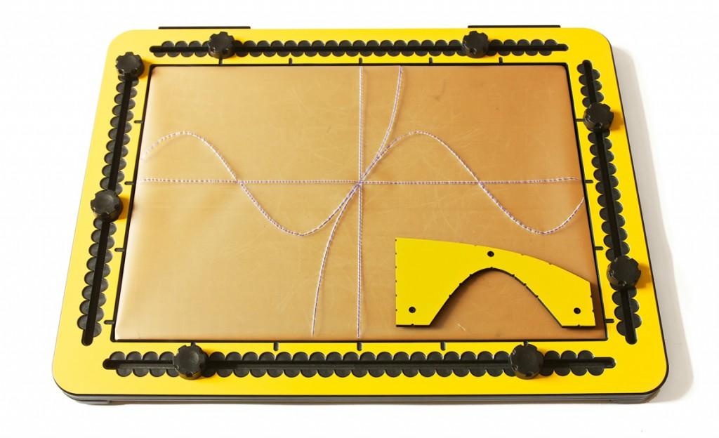 Photo: The trigonometry tool on the TactiPad