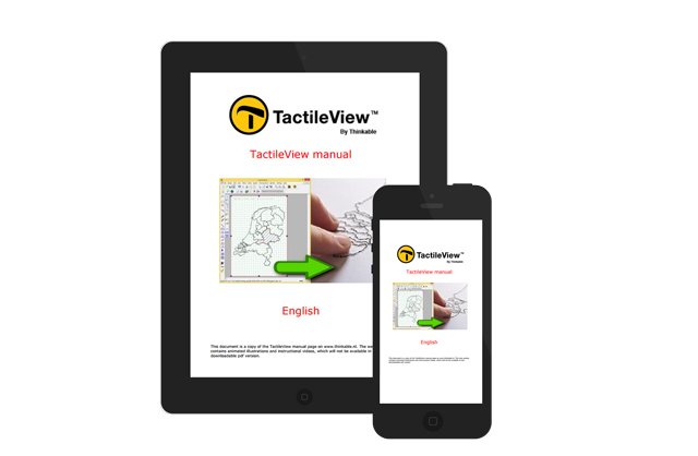 TactileView manual on a smartphone and tablet