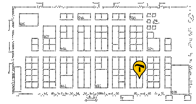 Tactile floorplan of the ATIA conference, with Irie-AT's booth marked